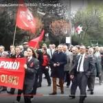 Podraza - print screen pochodu z flagą Lenina — 2